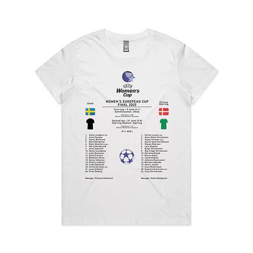Women's European Cup Final 2003 T-shirt