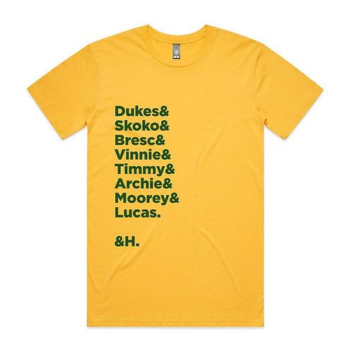 Dukes & Skoko & Bresc & Vinnie & Timmy & Archie & Moorey & Lucas. & H. T-shirt