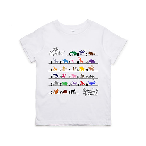 Alphabetical Animal Football Guide T-shirt