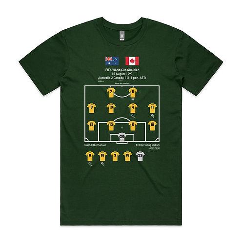 Australia Canada 1993 World Cup Qualifier T-shirt