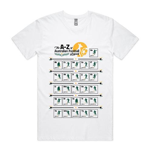The A-Z of Australian Football Legends T-shirt