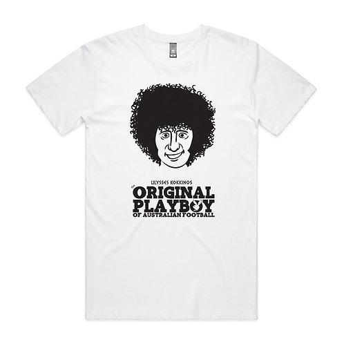 Ulysses Kokkinos Australia's Original Playboy Footballer T-shirt