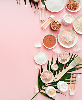 image of homemade cosmetics ingredients.