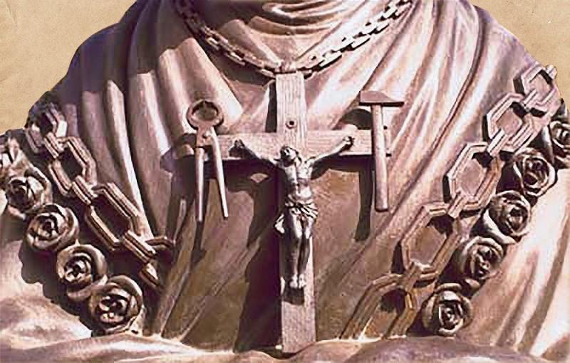 La Salette Cross Statue