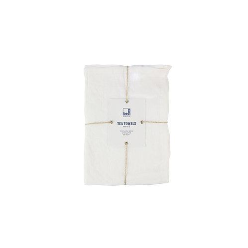 Leinenhandtücher 2er Set, weiß