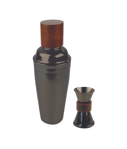 Cocktail-Set, Onyx/Holz