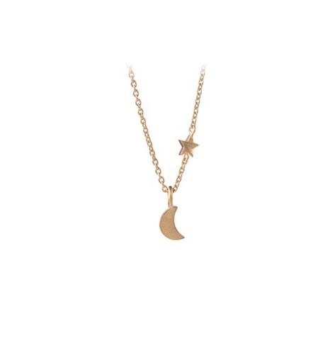 Kette LUNA STAR, gold oder silber