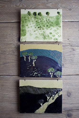 Kachel-Set Bäume