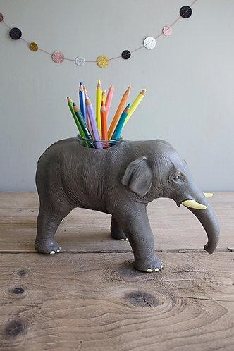 Stiftebecher/Vase Elefant