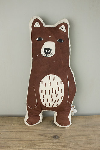 großes Kissen Waldbär