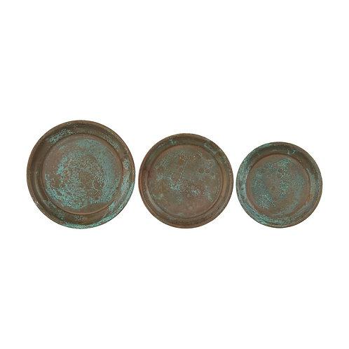 Teller-Set USE, kupfergrün