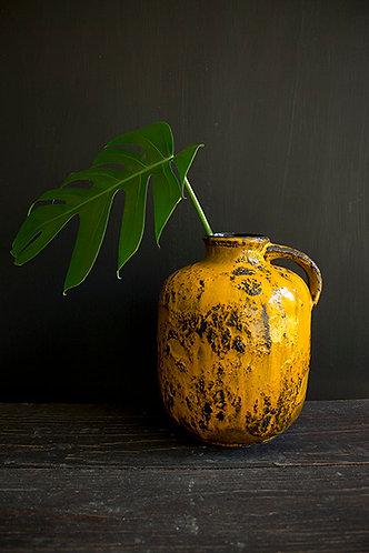 Gelbe Vase Fat Lava Ära