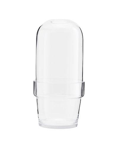 Pflanzgefäß mit Glasglocke klein