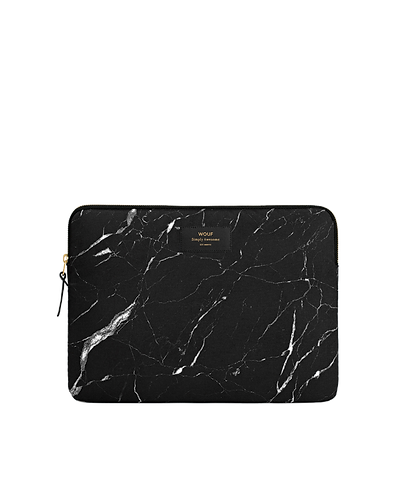 Laptoptasche, MARBLE, black, 13 Zoll