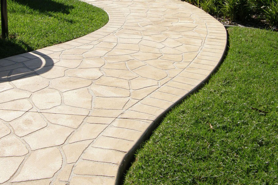 stamped concrete Luxe Landscapes