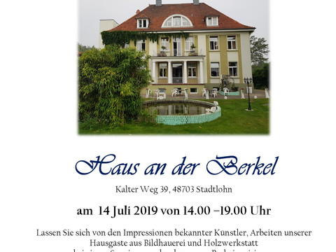 Herzliche Einladung zur 8. Ausstellung Kunst und Natur im Haus an der Berkel am 14. Juli 2019 von 14