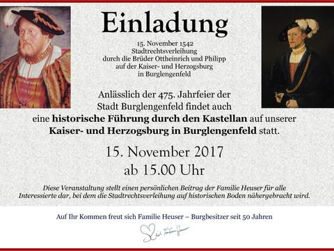 Kastellanführung zum Jubiläum: 475 Jahre Stadt Burglengenfeld feiert auch die Kaiser- und Herzogsbur