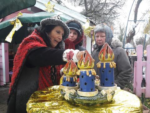 Das kleinste Adventsmärktlein in Bad Aibling war auch heuer wieder bei uns am Lebkuchenhäusl.