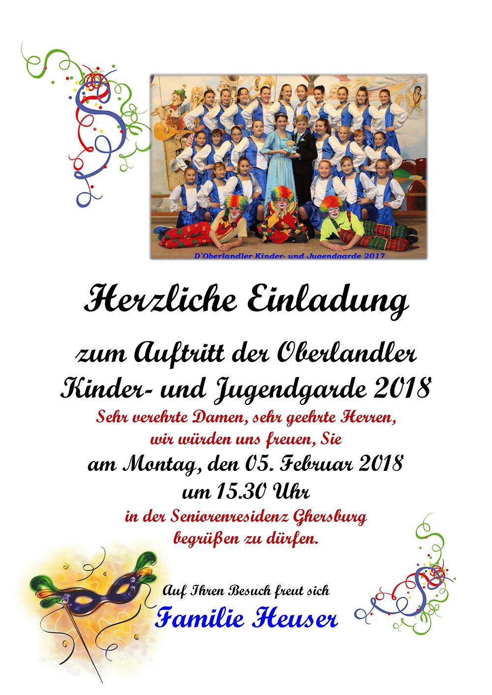 Oberlander Kinder- und Jugendgarde