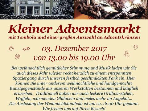 Die Adventszeit: Geschichte und gelebte Tradition - Einladung zu unserem kleinen Weihnachtsmarkt mit