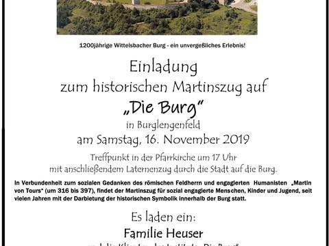 Martinszug von der Kirche Burglengenfeld zur Burg