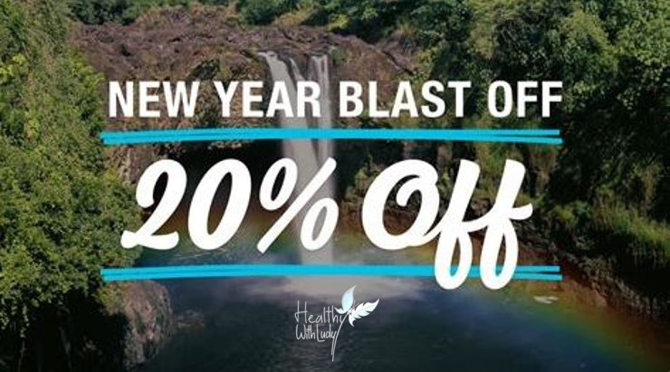 2020 New Year blast off with 20% off!!