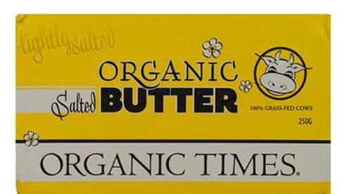 Butter Salted 250g Organic Times  NASAA