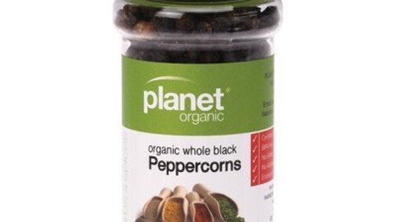 Certified Organic Black Whole Peppercorns - 50g