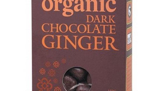 ORGANIC TIMES Dark Chocolate Ginger 150g