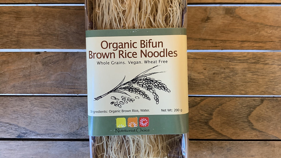 Rice Brown Noodles Organic Bifun NUTRITIONIST CHOICE  200g