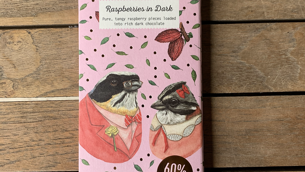 BENNETTO Chocolate Dark in Raspberry - Organic Fairtrade 100g