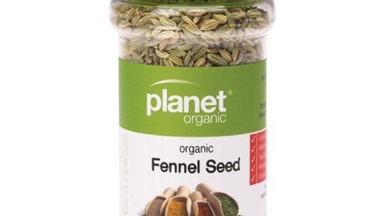 Fennel Seed Certified Organic in glass - 40g