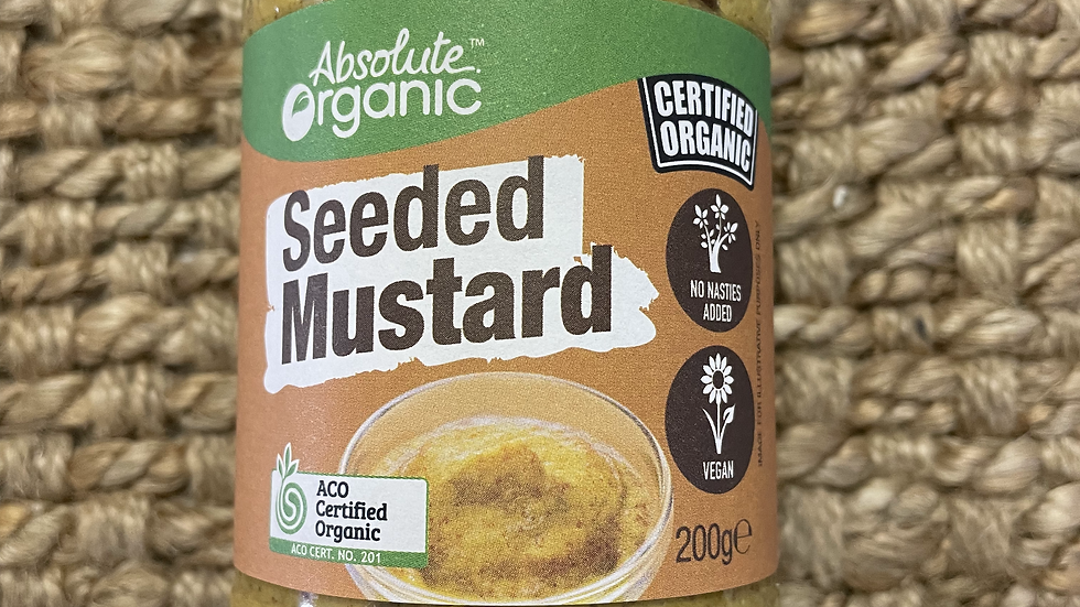 Mustard Seeded 200g Absolute Organic ACO 201