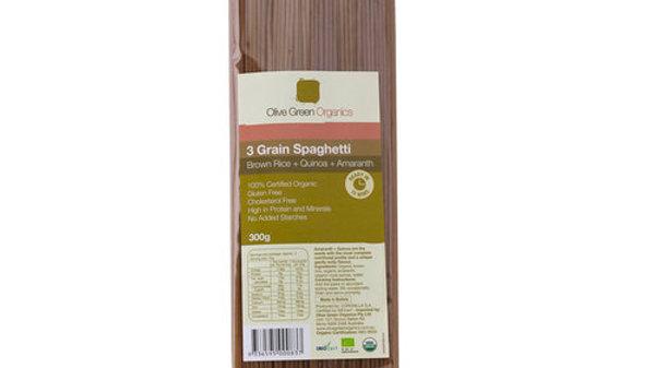 GF Spaghetti 3 Grain (Brown Rice, Quinoa, Amaranth) 300gm