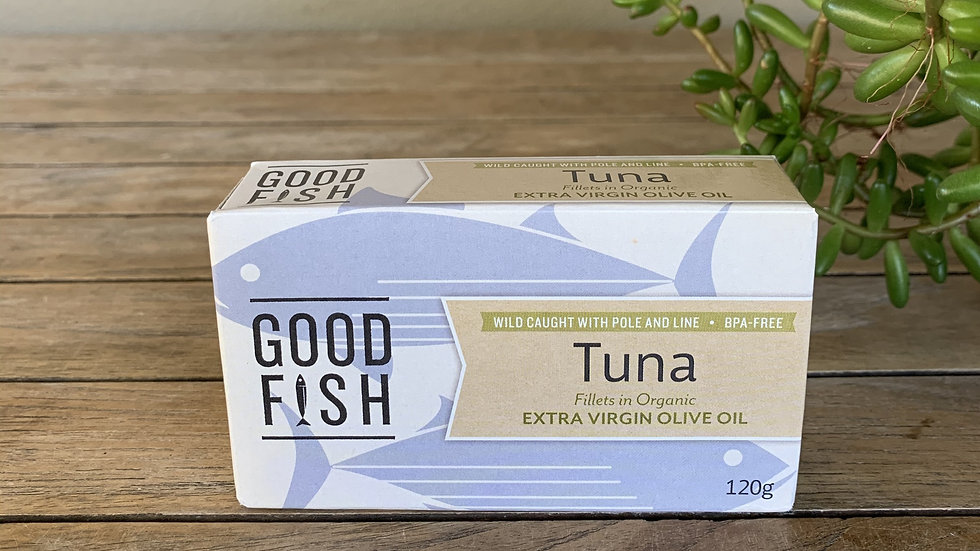 Good Fish Tuna fillets in Organic XV olive oil - 120g