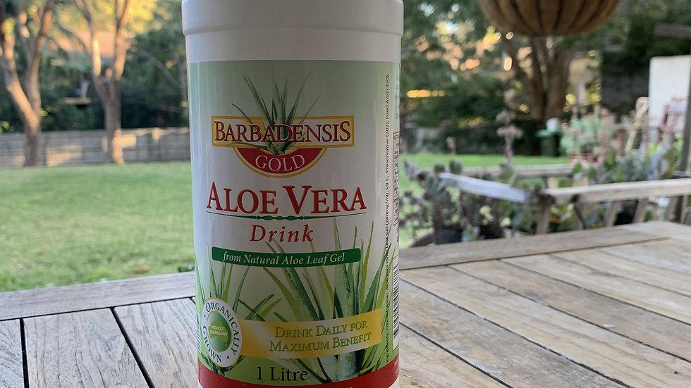Aloe Vera Juice BARBADENSIS GOLD Guaranteed 100% Inner Gel - 1L