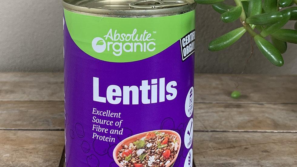Lentils (Tin) 400g Absolute Organic ACO