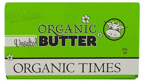 Butter Unsalted 250g Organic Times NASAA