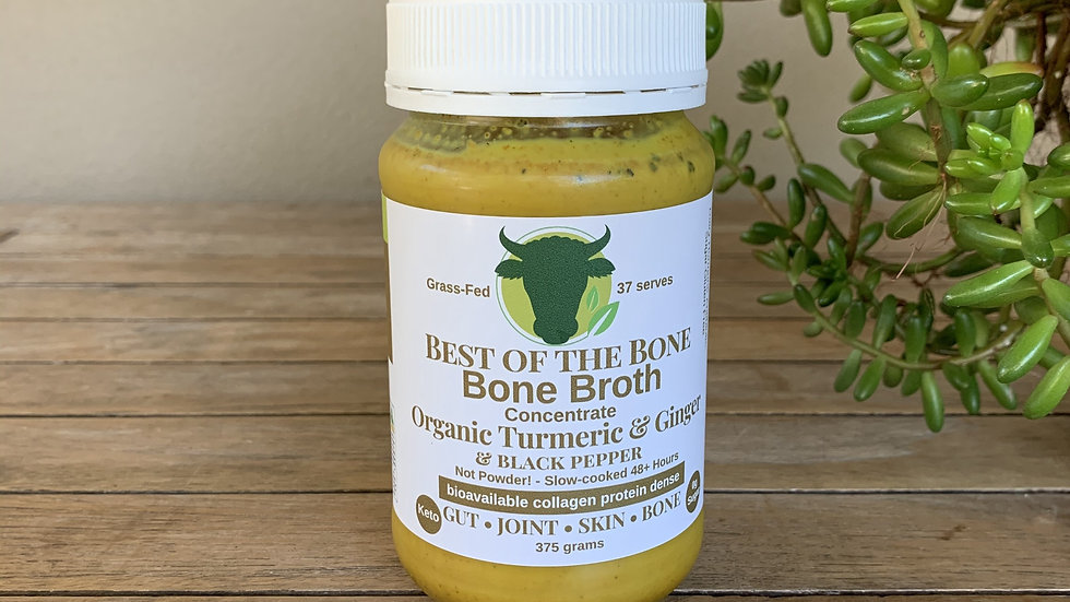 BEST OF THE BONE - Concentrated Bone Broth - Org Turmeric, Ginger, Black Pepper