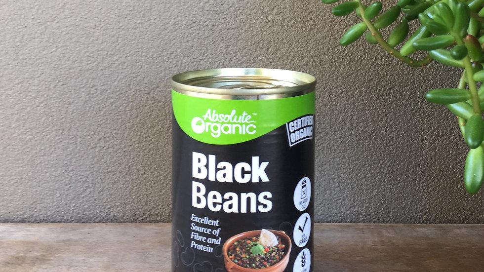 Black beans certified organic tin - 400g