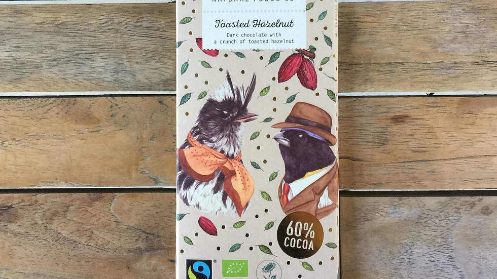 BENNETTO Chocolate Dark with Toasted Hazelnut - Organic Fairtrade 100g