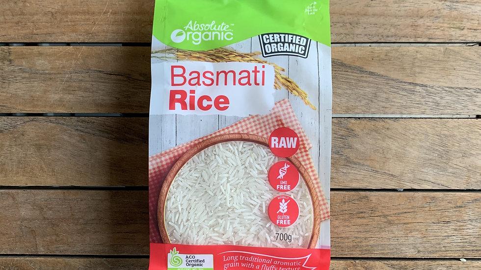 Basmati rice white  700g Certified Organic ACO
