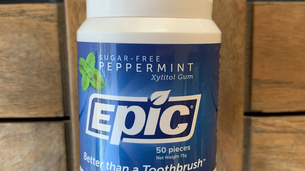 EPIC Xylitol Chewing Gum Peppermint 50