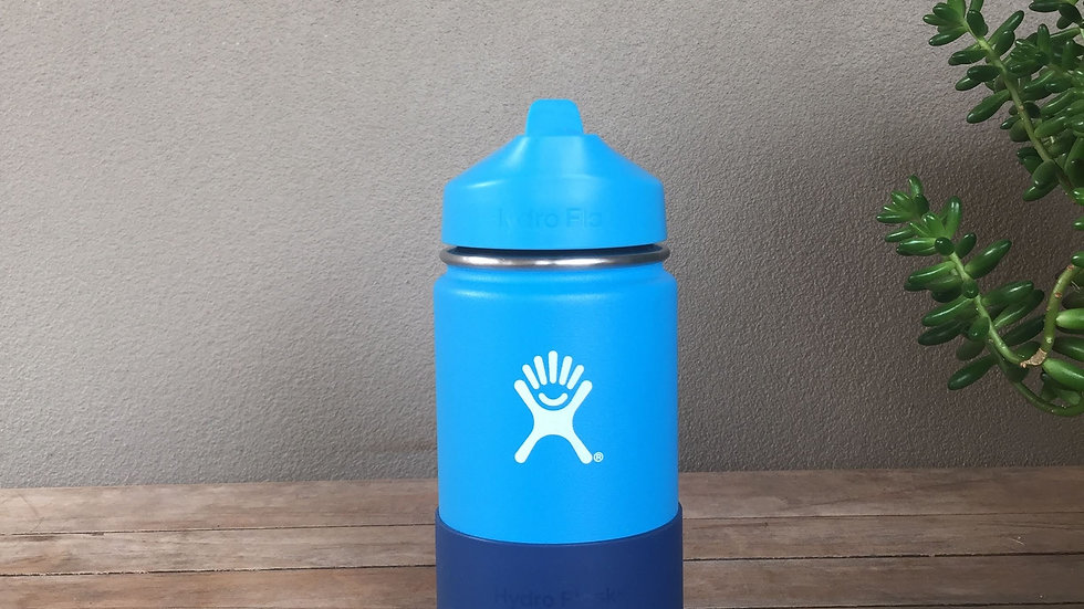 HYDRO FLASK Wide Mouth Kids Bottle - Straw Lid Double Insulated - 4 colours