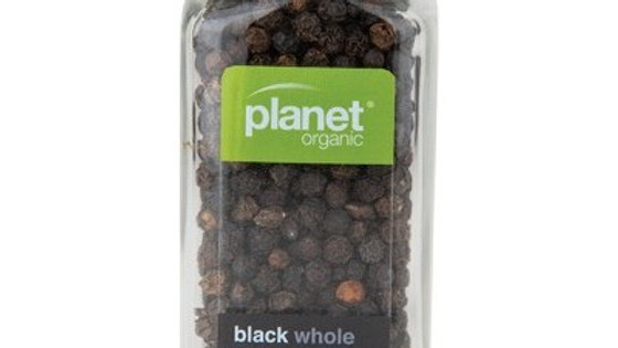 Black Peppercorn Whole - Planet Organic Spices - 50g
