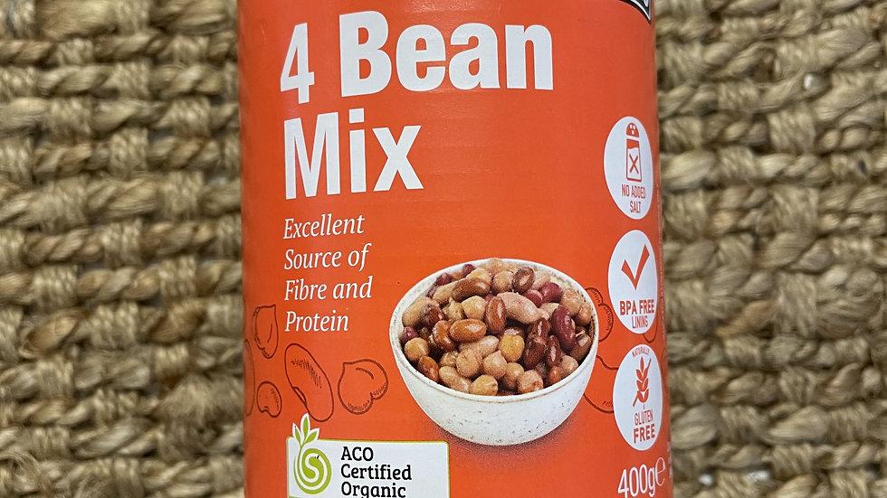Beans Four Bean Mix 400g Absolute Organic ACO 201