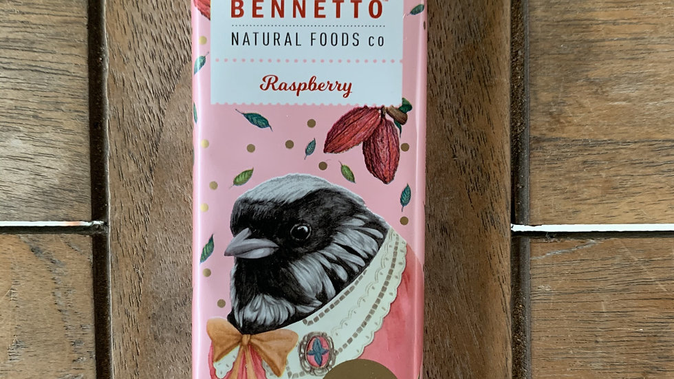 BENNETTO Chocolate Dark in Raspberry - Organic Fairtrade 30g