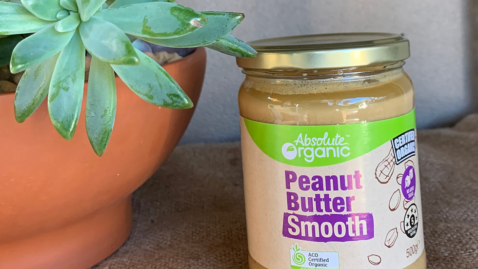 Peanut Butter Smooth Certified Organic - 500gm