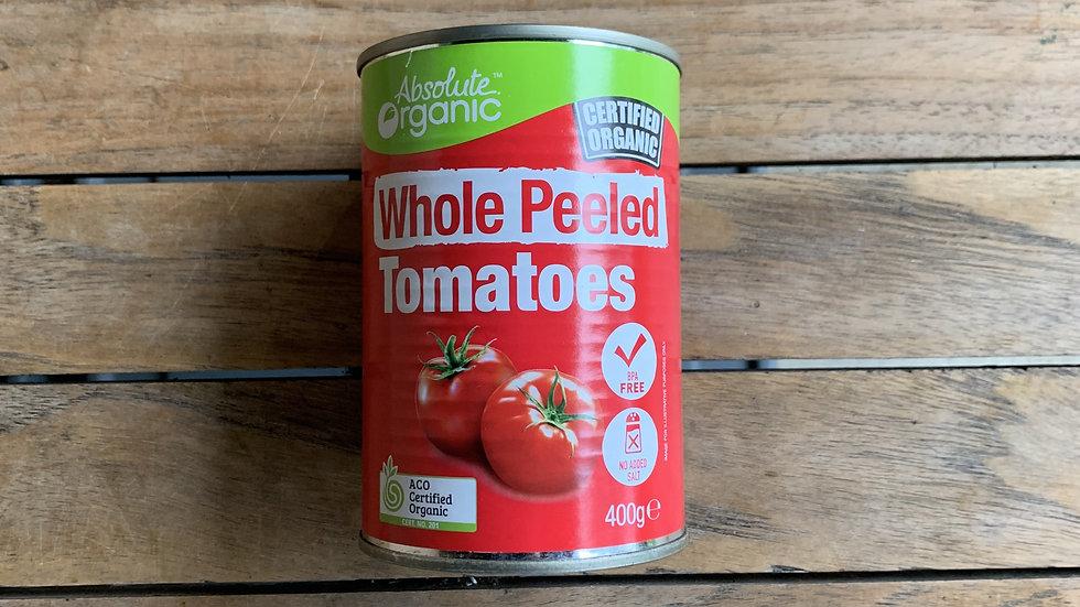 Tomatoes Whole Peeled 400g Absolute Organic ACO