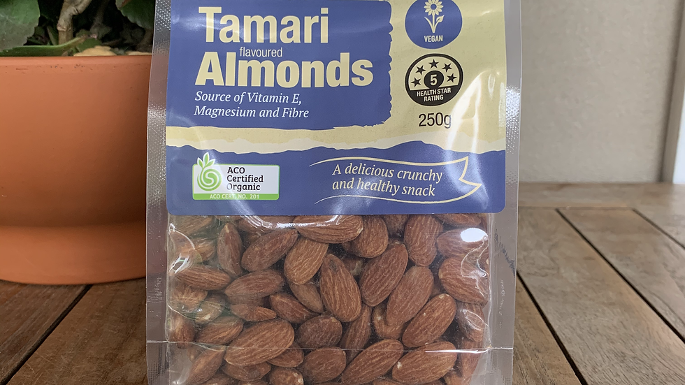 Nuts Almonds Tamari 250g Absolute Organic ACO